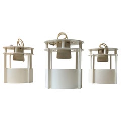 White Built on/in Ceiling Lights by Vilhelm Wohlert for Louis Poulsen, Set of 3