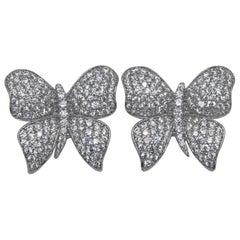 White Butterfly Earrings