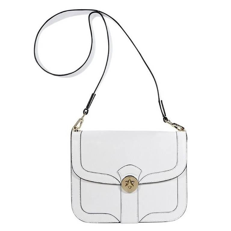 White Cambiaghi Milano Leather Crossbody Bag