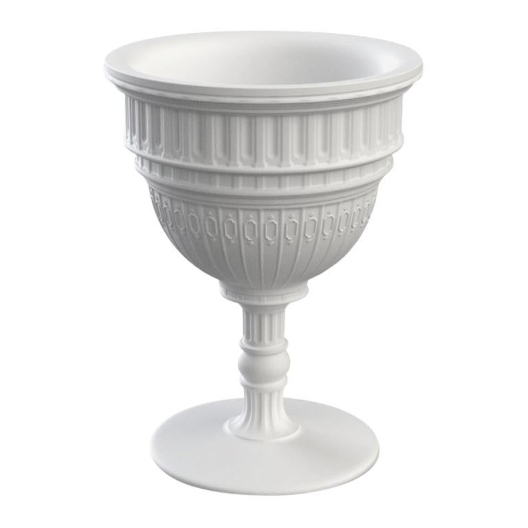 White Capitol Planter / Champagne Cooler, Designed by Studio Job, Made in Italy