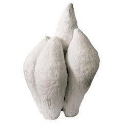 White Ceramic Artwork Signed by Jojo Corväiá