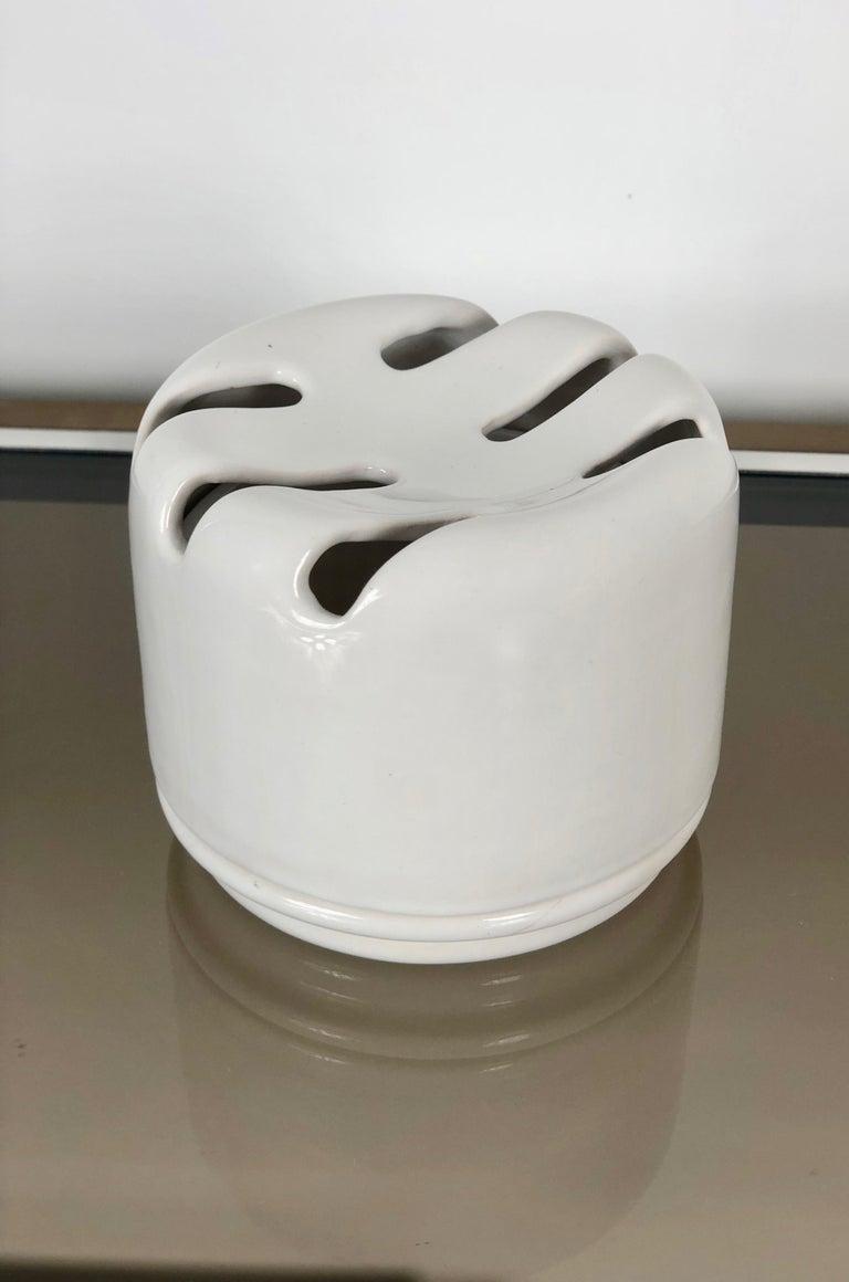 Italian White Ceramic Ashtray