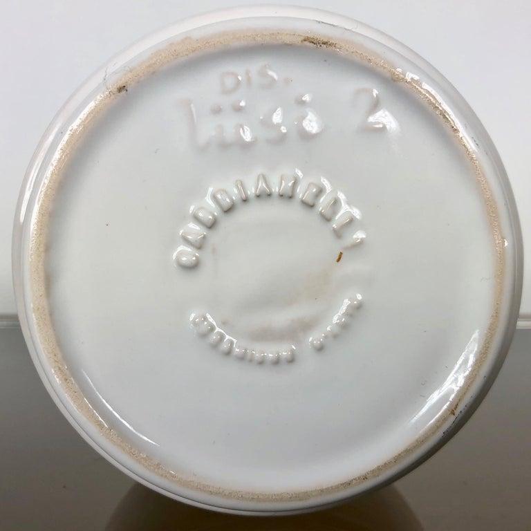 Late 20th Century White Ceramic Ashtray