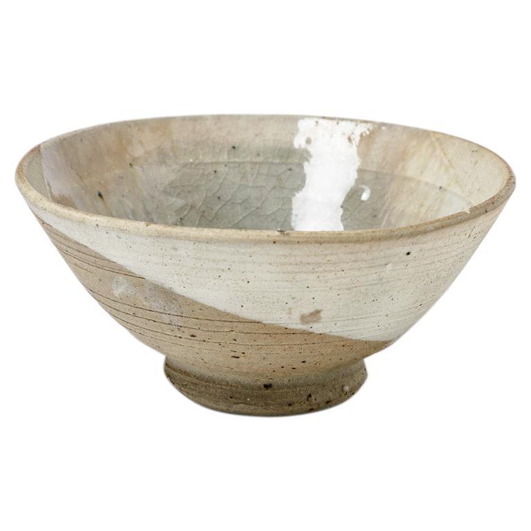 White Ceramic Bowl or Cup by Jean Linard circa 1970 La Borne For Sale
