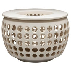 White Ceramic Candle Lantern, In Stock
