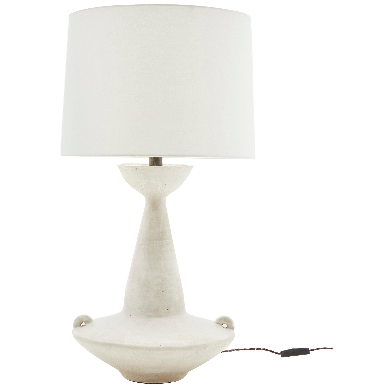 White Ceramic Claudius Lamp by Danny Kaplan