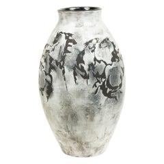 White Ceramic Horse Design Vase