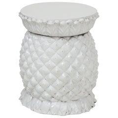 White Ceramic Pineapple Garden Seat