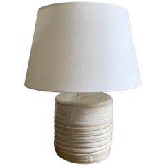 White Ceramic Table Lamp, Finland
