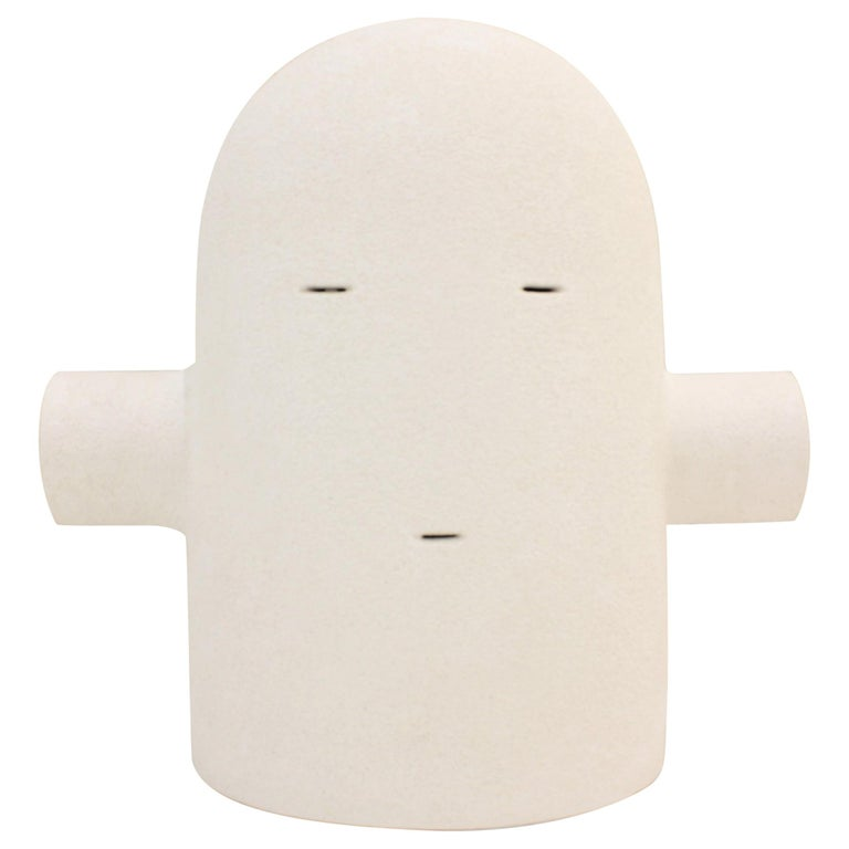 White Ceramic TOTEM Sculpture, Moodiie For Sale