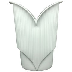 White China Porcelain Vase by Jan van der Vaart for Rosenthal
