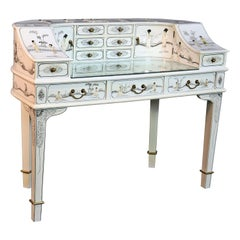 White Chinoiserie Carlton House Desk