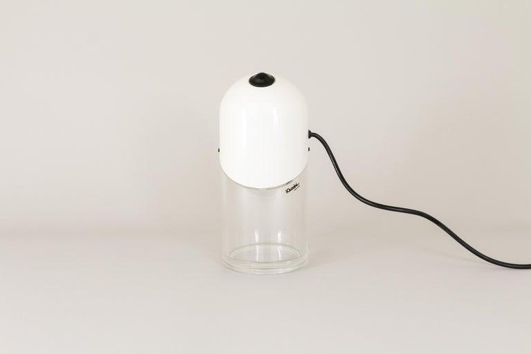 Italian White Cirillo Table Lamp by Laura Maria Mandelli for Guzzini, 1970s For Sale