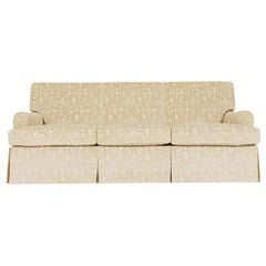 White Classic Cloth English Arm Sofa