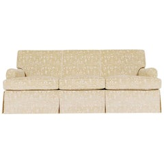 White Classic Cloth English Arm Sofa