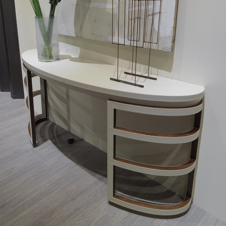 Modern White Console For Sale