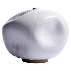 White Contemporary Handmade Ceramic Vase/ Wabi Sabi