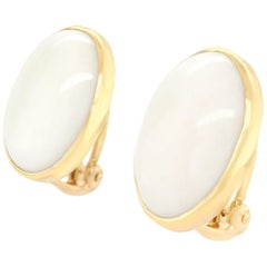 White Coral Earrings by Gump's of San Francisco