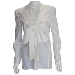 White Cotton Shirt by Yves Saint Laurent Rive Gauche