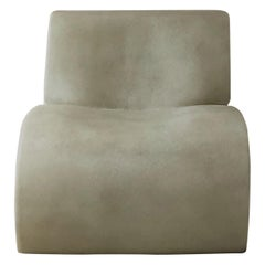 White Curl Up Lounge Chair by Karstudio