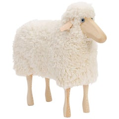 White Curly Wool and Pinewood Small Sheep