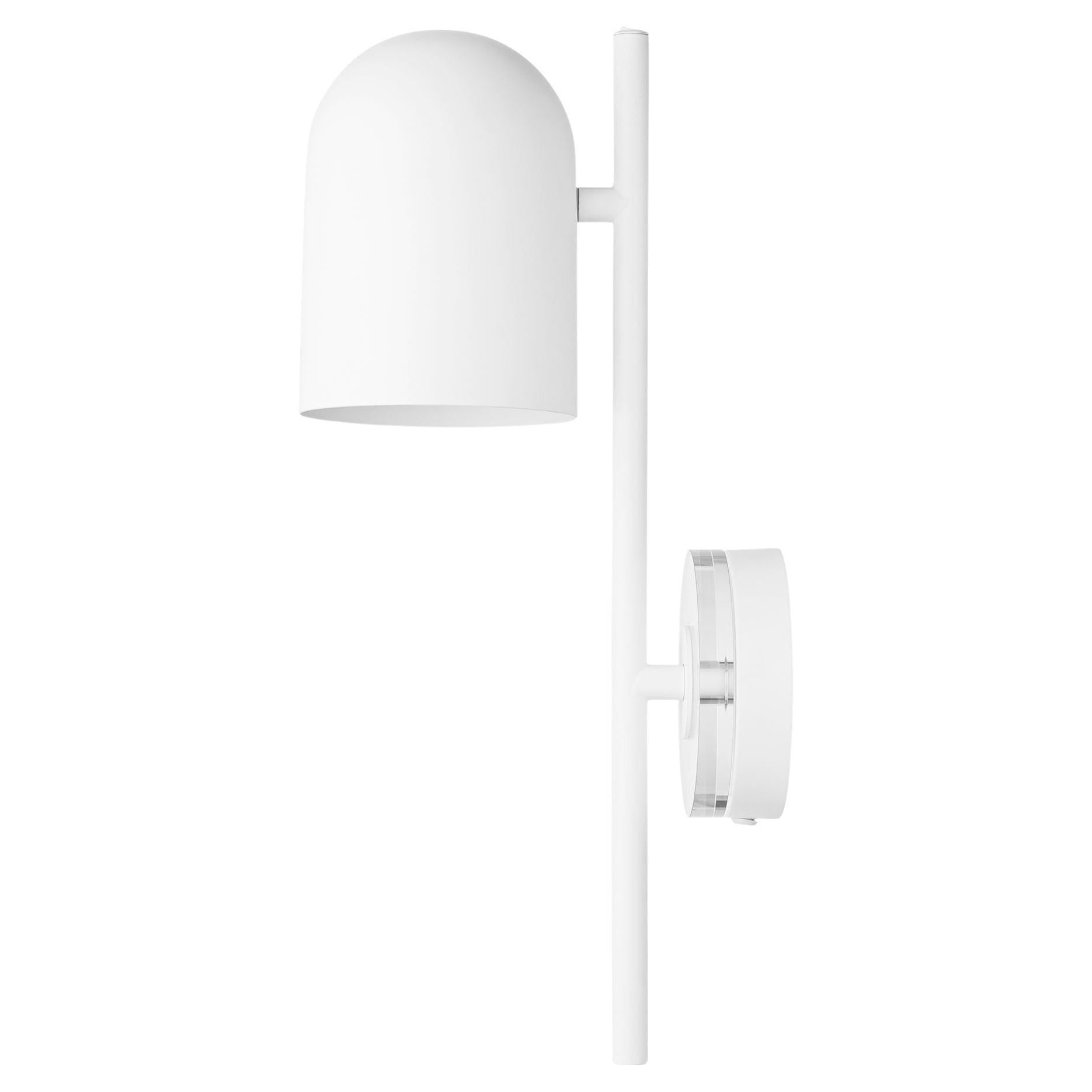 White Cylinder Wall Lamp