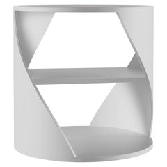 White Decorative Nightstand, MYDNA Side Table by Joel Escalona