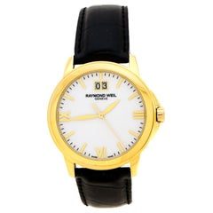 White Dial Gold Plated Stainless Steel Tradition 5476 Men's Wristwatch 39 mm