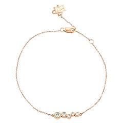 White Diamond 0.27 Carat Adjustable Bracelet