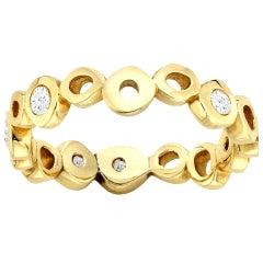 White Diamond 0.30 Carat 14 Karat Yellow Gold Ring Wedding or Engagement Band