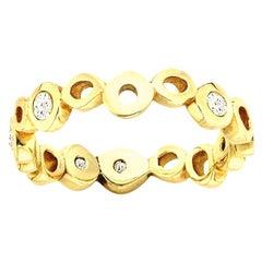 White Diamond 0.30 Carat 14 Karat Yellow Gold Wedding or Engagement Band
