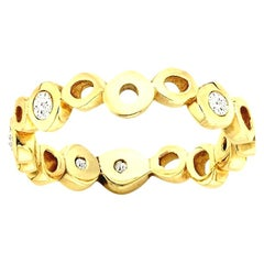 Hi June Parker 14 Karat Gold Wedding or Engagement Band Diamond 0.30 Carat