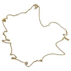 White Diamond Gold Dot Chain Choker Necklace J Dauphin