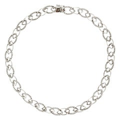 White Diamond and White Gold Necklace SPIGA Collection