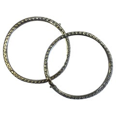 White Diamond Bangle Bracelets in 18 Karat White Gold