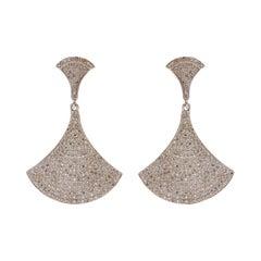 White Diamond Bell Earrings