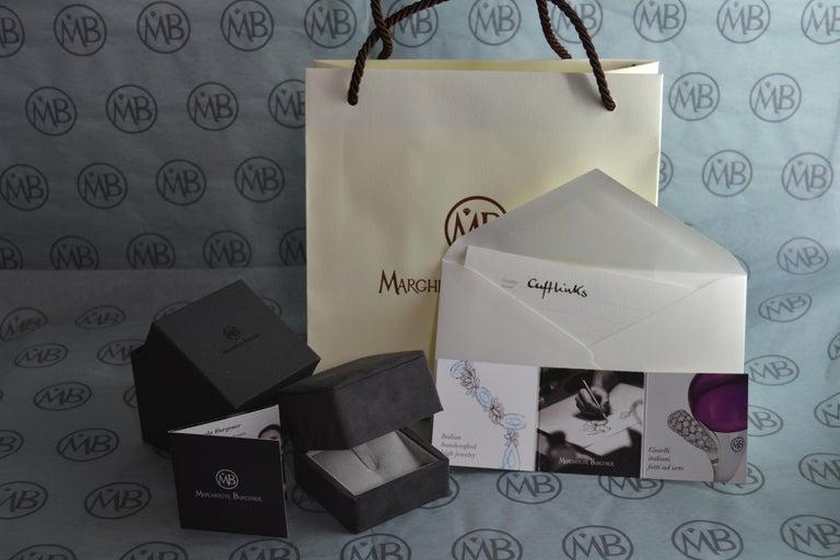 White Diamond Black Diamond Onyx 18K White Gold Cufflinks For Sale 2