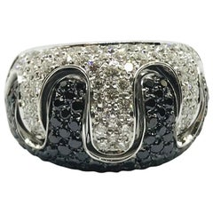 White Diamond Black Diamond Ring Band White Gold