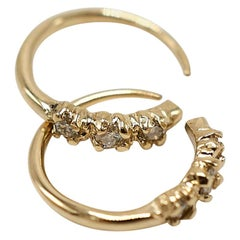 White Diamond Earring Gold J Dauphin