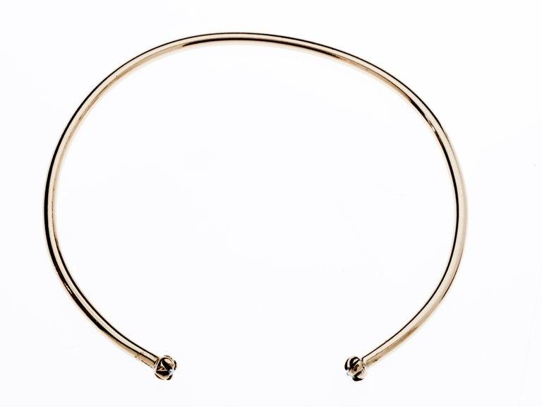 Contemporary White Diamond Gold Love Bracelet Bangle Cuff J Dauphin For Sale