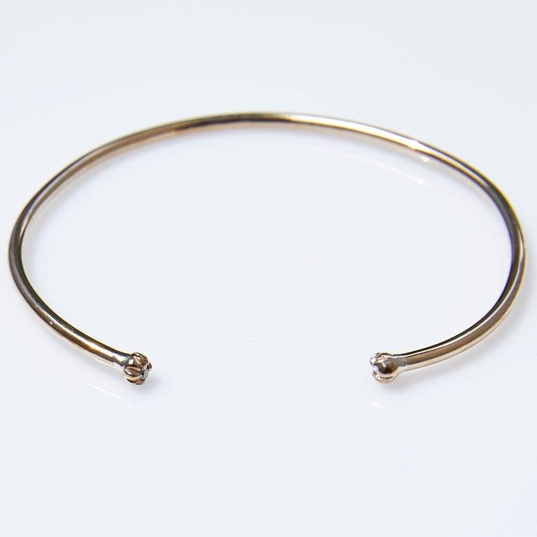 Contemporary White Diamond Arm Bracelet Cuff  Bronze Stackable J Dauphin For Sale