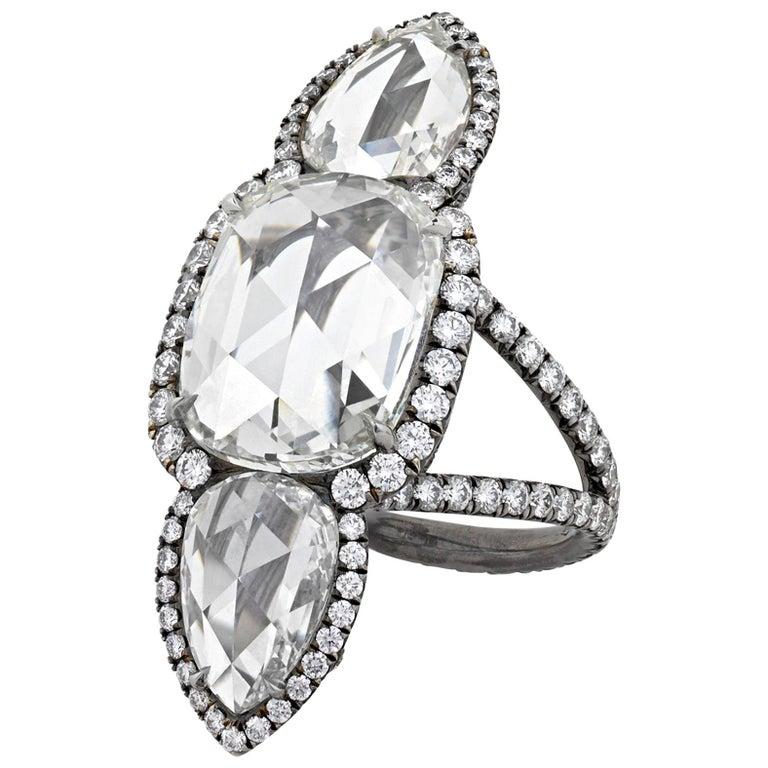 de37d2022d2f White Diamond North-South Ring, 7.98 Carat