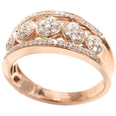 White Diamond Rose Gold 18Carat Engagement Ring