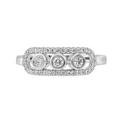 White Diamond Round White Gold Fashion Cocktail Right Hand Ring