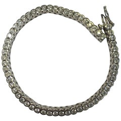 White Diamond Tennis Bracelet in 14 Karat White Gold