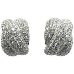 DAMIANI White Diamond White Gold Earrings