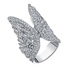 White Diamond White Gold Ring, the Angel Wing Ring