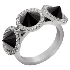 White Diamond White Gold Ring, The Inverted Cluster Ring