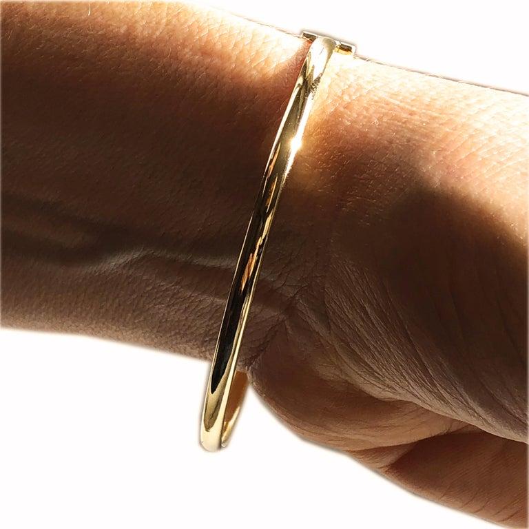 White Diamond Yellow Gold Contemporary Love Bracelet For Sale 5