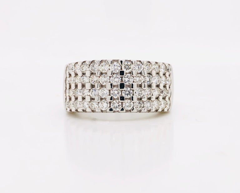 White Diamonds 1.85 Carat on White Gold Ring For Sale 7